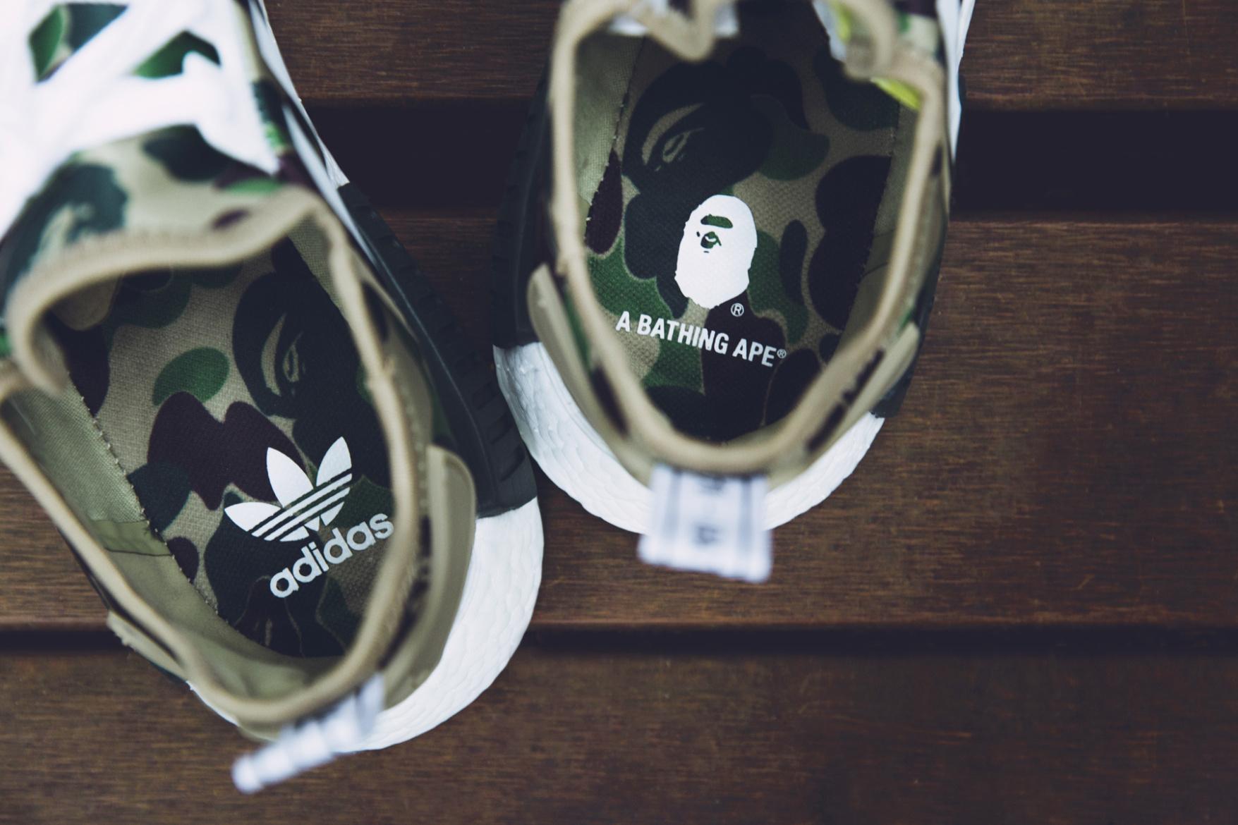 Une future sneakers Adidas en collaboration avec Bape