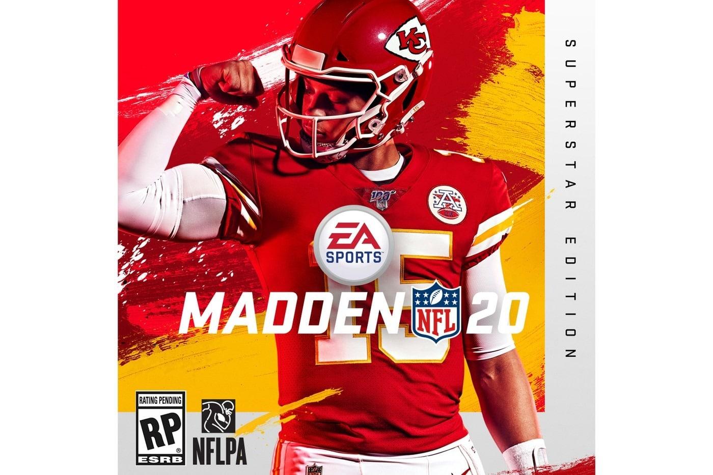 Patrick Mahomes est la star vedette de la couverture de «Madden NFL 20».