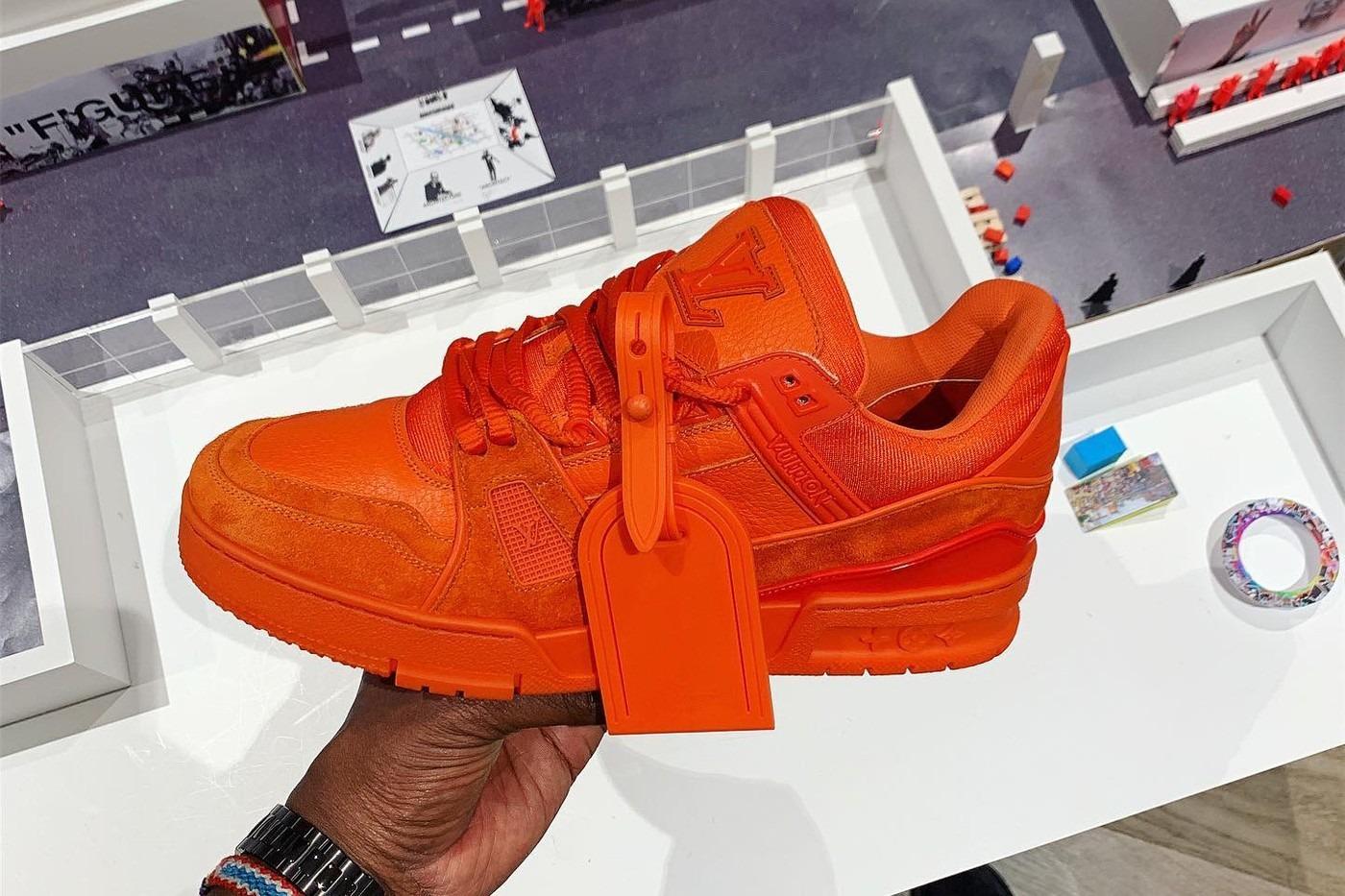 Virgil Abloh nous fait découvrir la nouvelle sneaker Louis Vuitton.