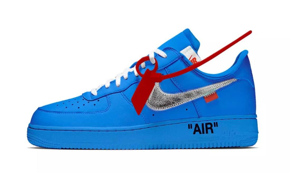Voici les images officielles de la Off-White x Nike Air Force 1 «University Blue»