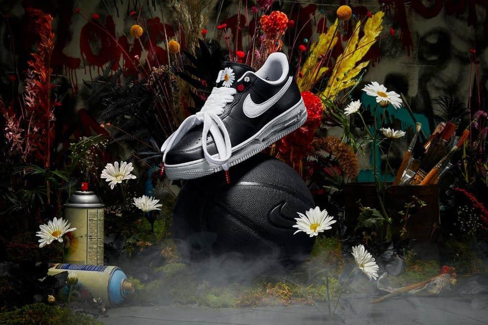 """Découvrez la PEACEMINUSONE x Nike Air Force 1 """"Para-Noise"""" de G-Dragon."""