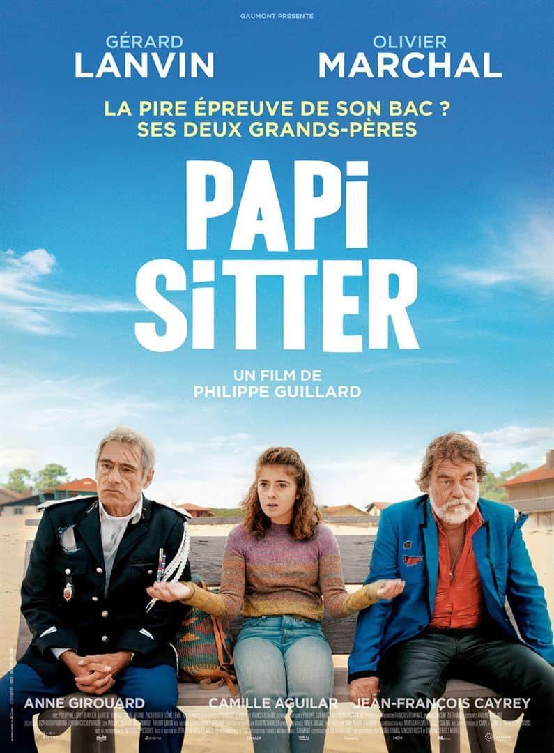"""L'affiche de """" Papi-sitter """" de Phillipe Guillard"""