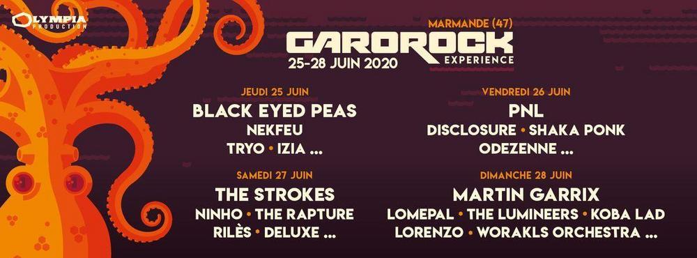 Programmation du Festival Garorock #24 2020
