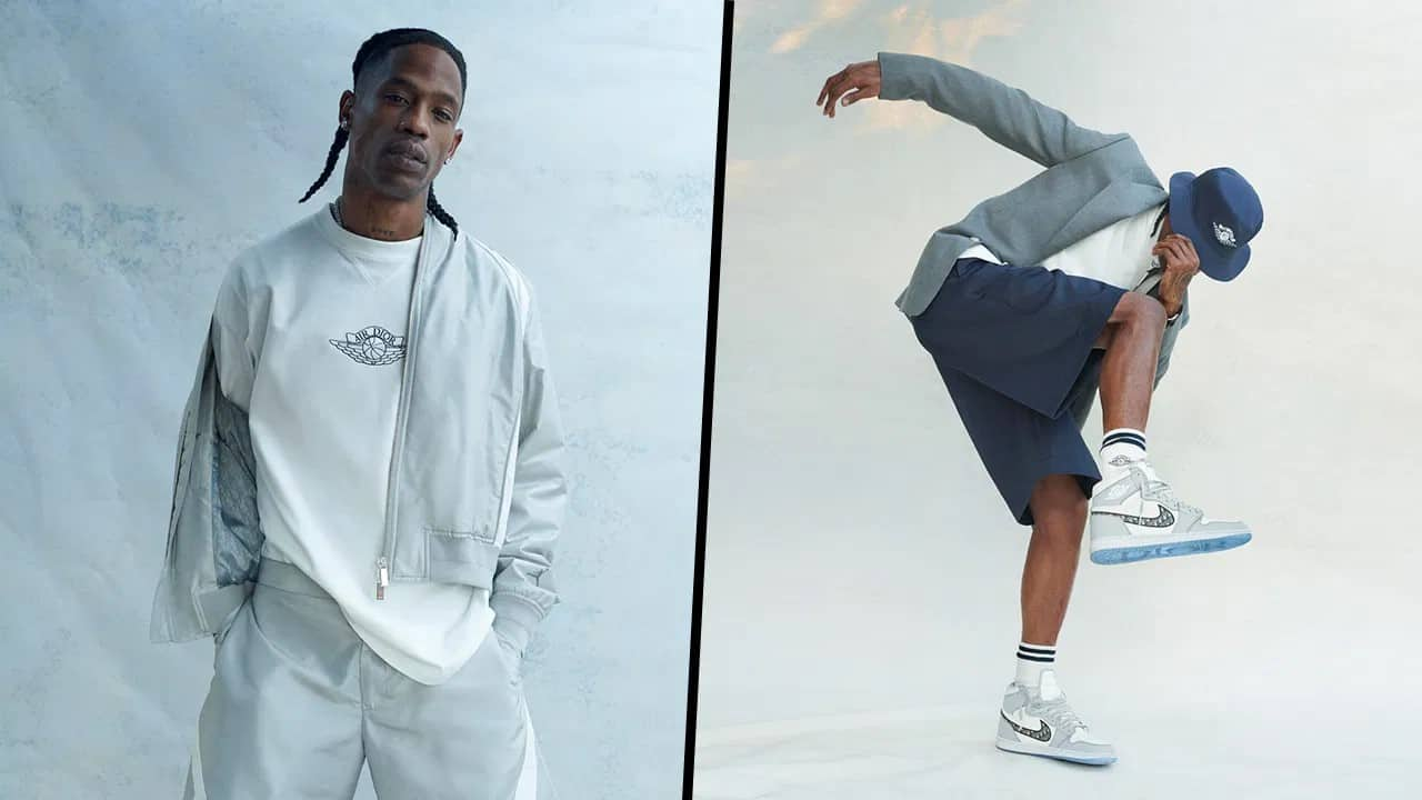 Travis scott et la collection apparel Dior x Jordan