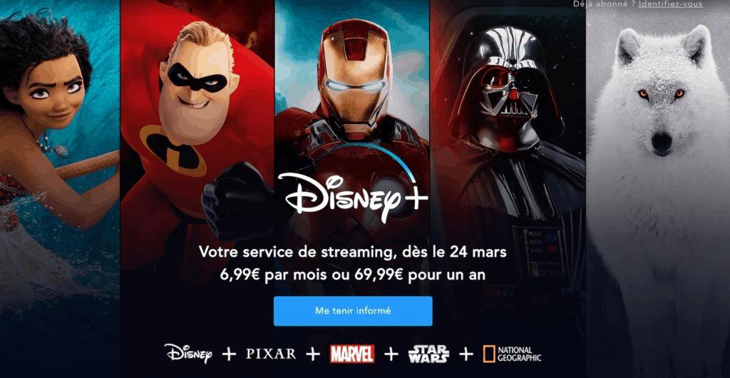 Disney + : date de lancement et tarifs