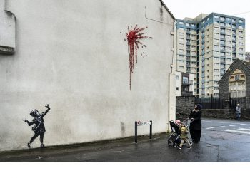 Une nouvelle œuvre de Banksy offerte en cadeau à sa ville natale ?