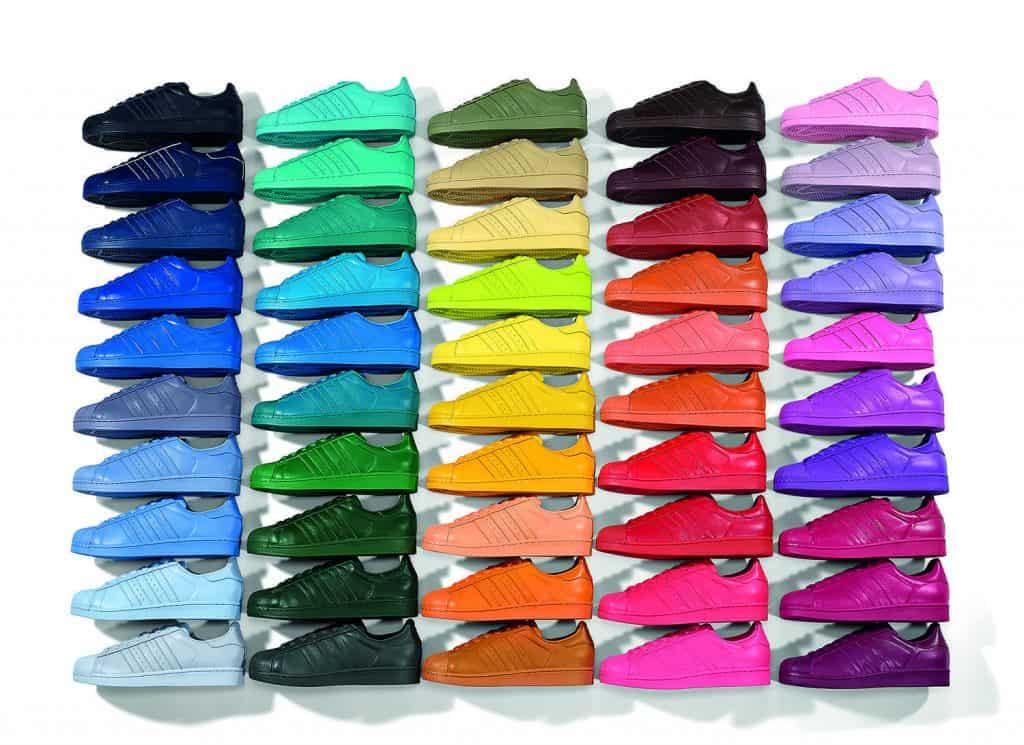 Adidas x Pharell (2015), Superstar 50 coloris