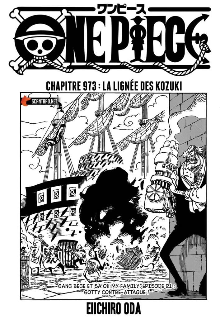 One Piece Chapitre 974 Spoil : Date et heure de sortie