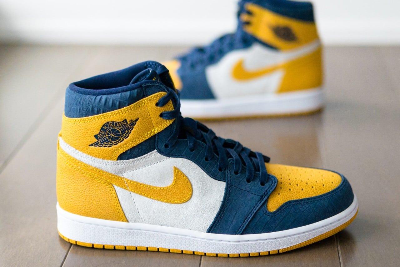 air jordan 1 jaune et bleu
